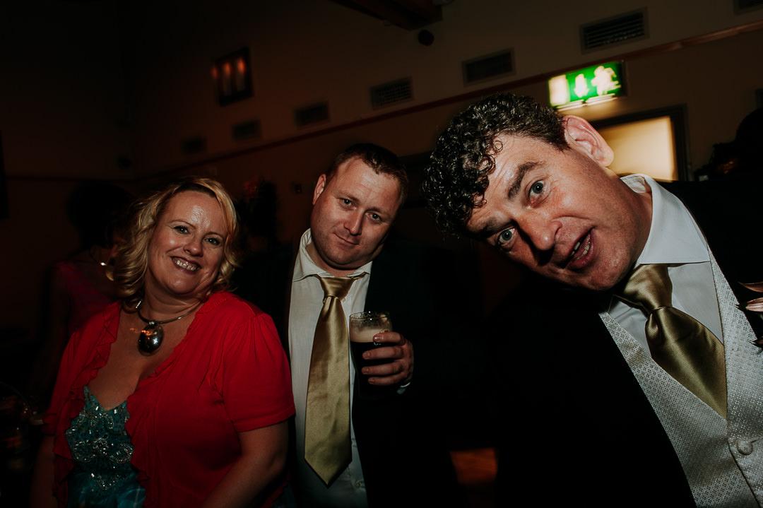 revellers at Irish wedding reception