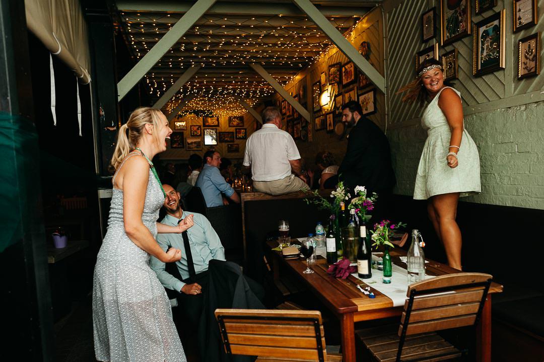 Garden Gate Hampstead evening wedding reception
