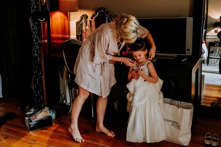 carton house wedding bride gives daughter a new necklace