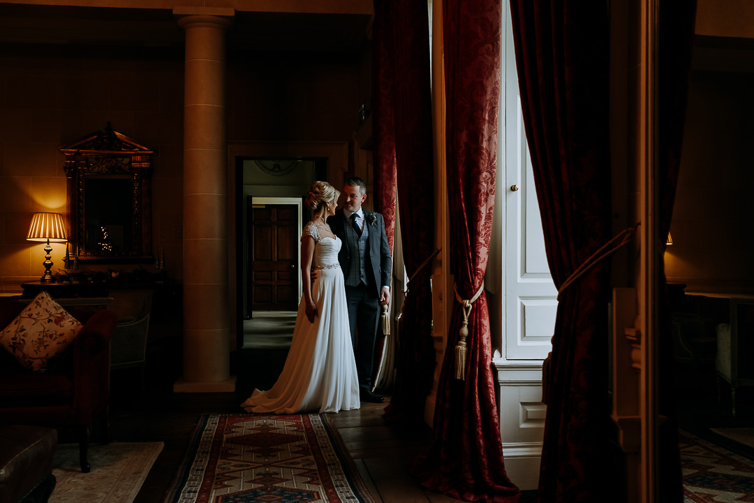 Shell Cottage couple portrait at Carton House wedding