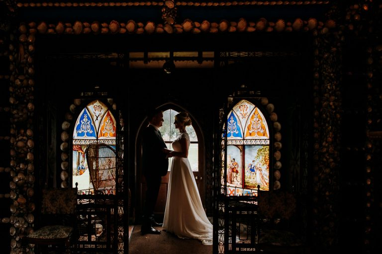 Shell Cottage couple portrait at Carton House wedding