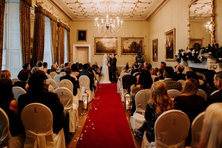 Carton House winter wedding ceremony