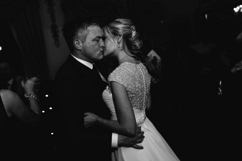 Carton House wedding couple kiss during their first dance