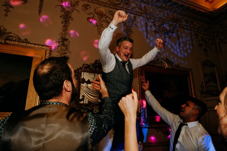 carton house wedding groom and guest celebrations