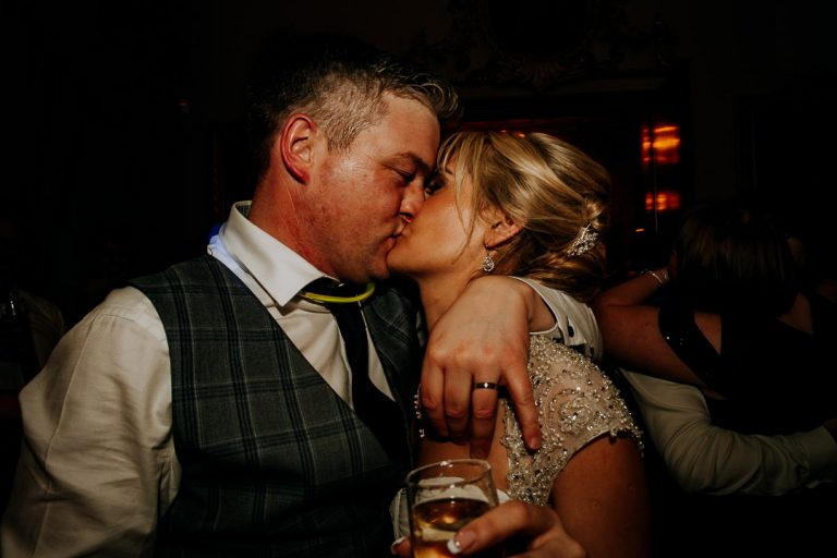 carton house wedding newly married couple embrace on dance floor