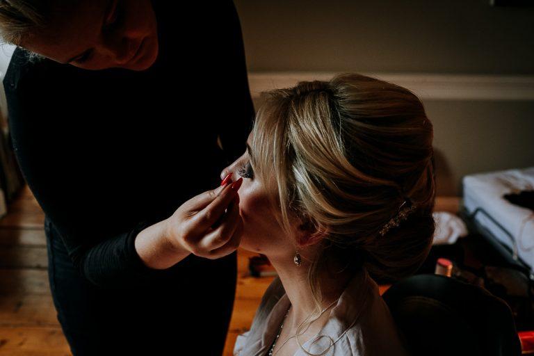 carton house wedding morning makeup scene