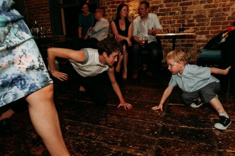 Dead Dolls house Islington same-sex wedding dancefloor moves