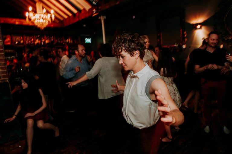 Dead Dolls House dance floor same-sex wedding reception
