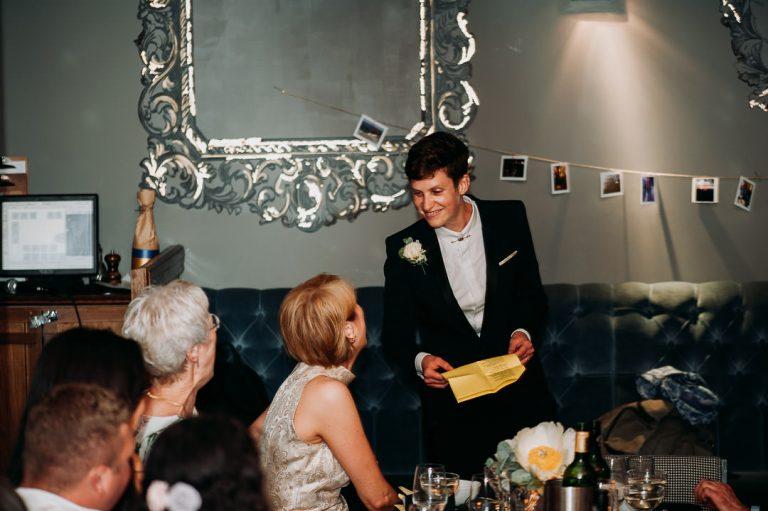 Islington same sex wedding speech at Dead Dolls house