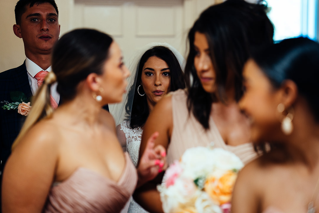 Glenmore House Surbiton nervous Bride candid wedding photography