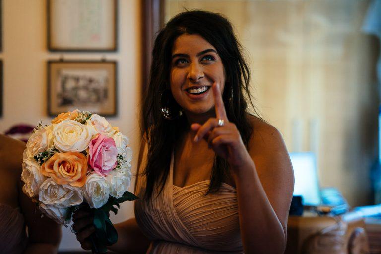 Bridesmaid reaction Glenmore House Surbiton