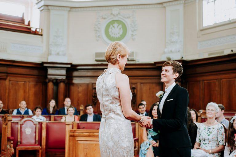 same-sex Islington town hall wedding ceremony