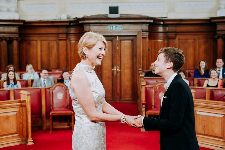 Islington same-sex wedding vow exchange