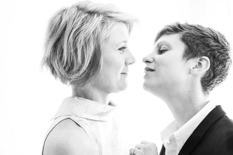 Islington town hall same-sex London wedding photography