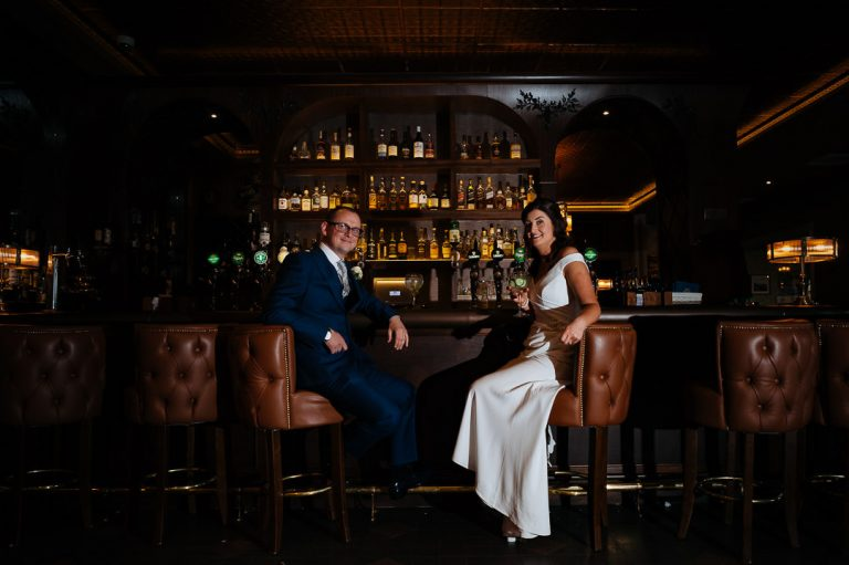 Dotts Bar newly married couple Rose Hotel Kerry wedding