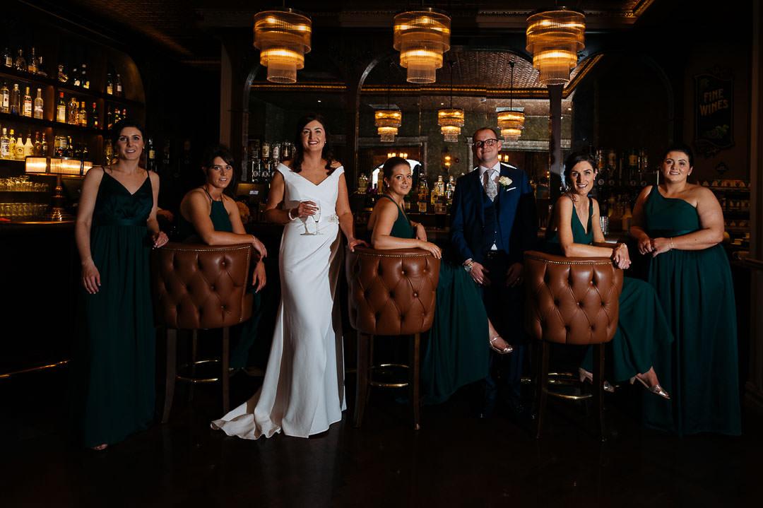 Dotts Bar bridal party Rose Hotel Kerry wedding
