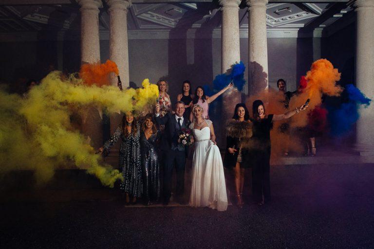 Carton House wedding party and smoke bombs