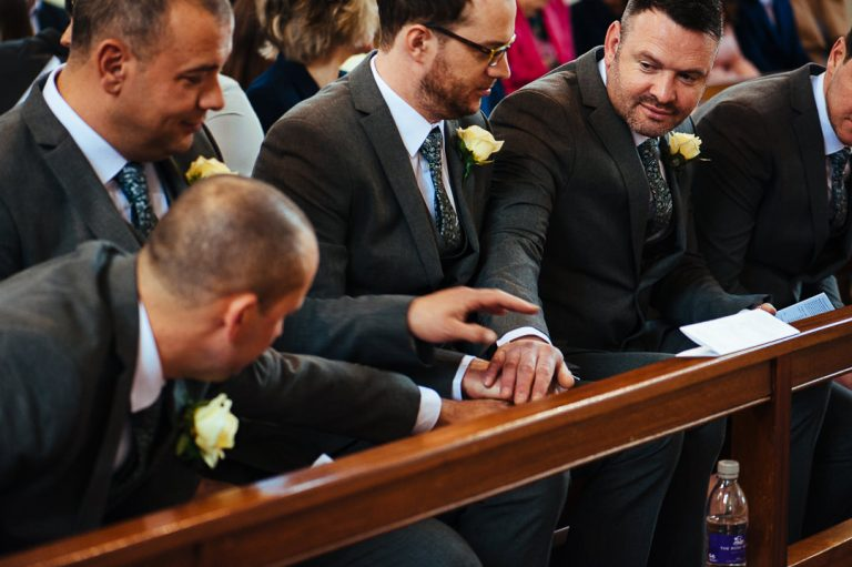 groomsmen pact Moyvane church documentary wedding photography