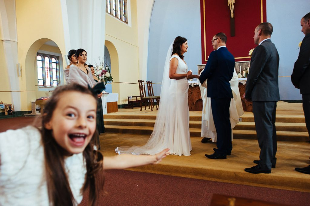 Wild Atlantic way Kerry wedding Church candid photography