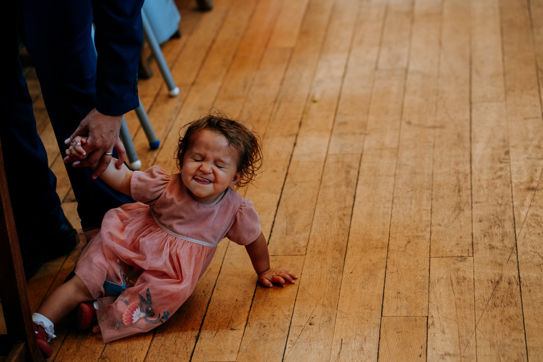 child at Goodenough College wedding