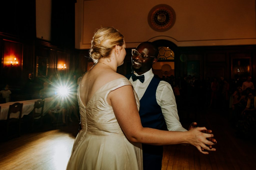 Goodenough college wedding Bride and Groom first dance