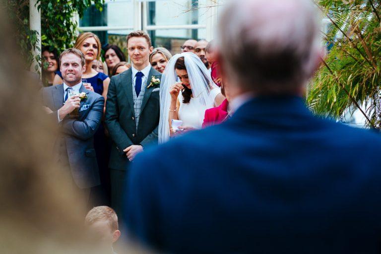 Emotional speeches at Kilshane House wedding