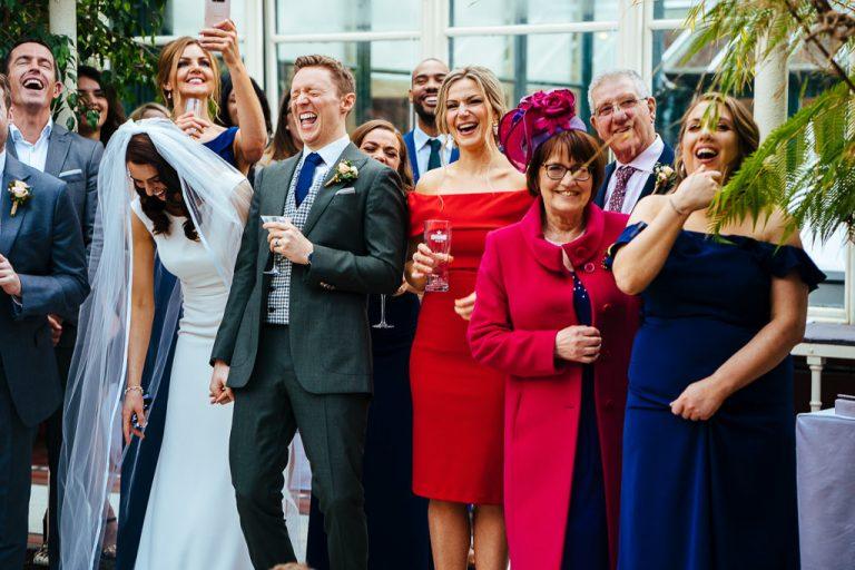 Wedding speeches at Kilshane House Orangerie